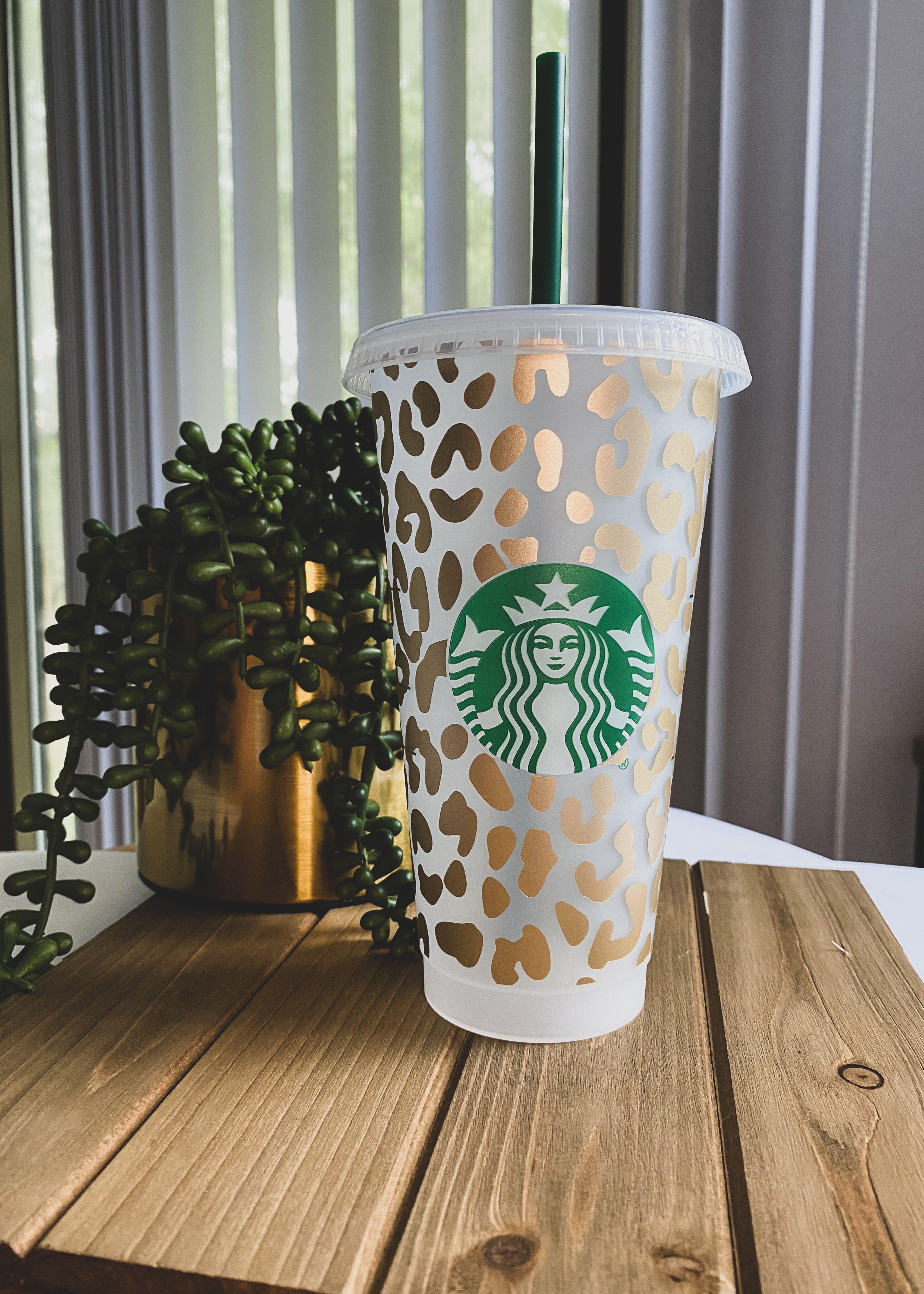 Cheetah Print Starbucks Venti Reusable Cold Cup