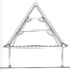 Charpente flamande architecture flamande en flandre for Architecture flamande