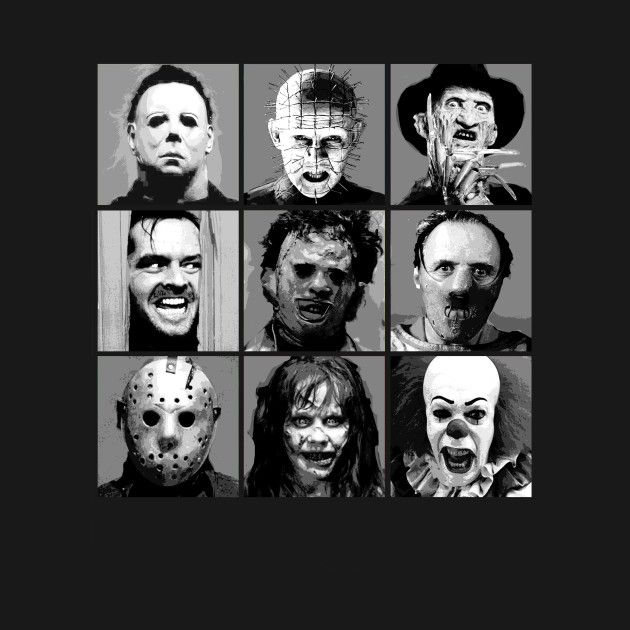 Pop Horror BW\u0027 #pop #horror #halloween #halloweenparty