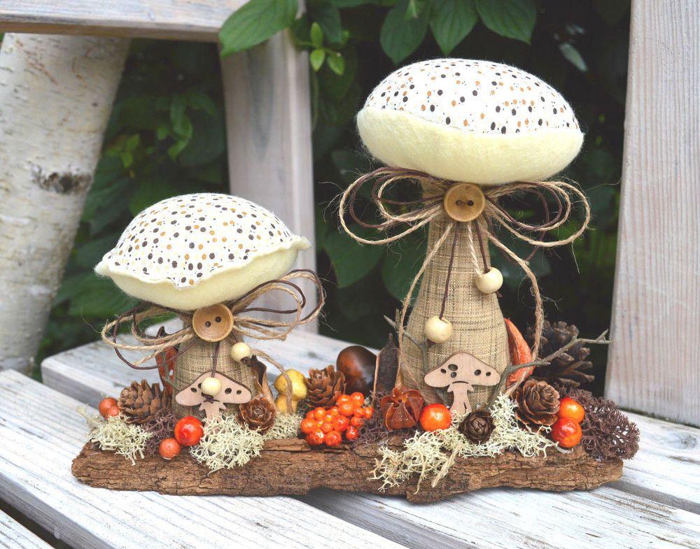 2 Pilze,Tilda Art,Herbstdeko,Landhaus | Möbel U0026 Wohnen, Dekoration,