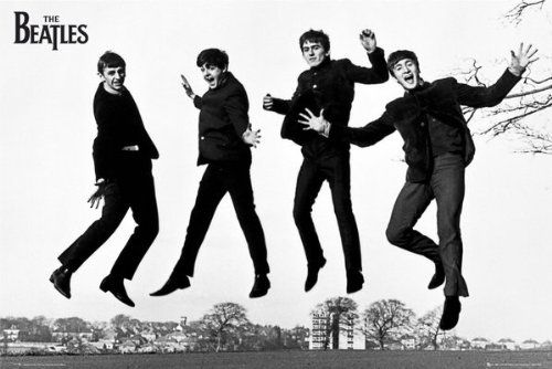 Beatles, 24x36 Black and White (Jumping) Poster POSTERHOUND http://www.amazon.com/dp/B0015H1HEA/ref=cm_sw_r_pi_dp_2g3hvb1MEPNPH