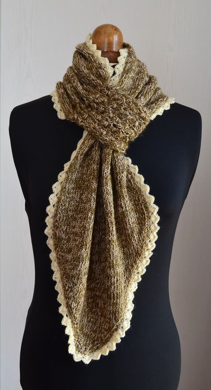 473cfb444bbb6 L écharpe à passant...et SES tutos   free patterns knitting   Tricot ...