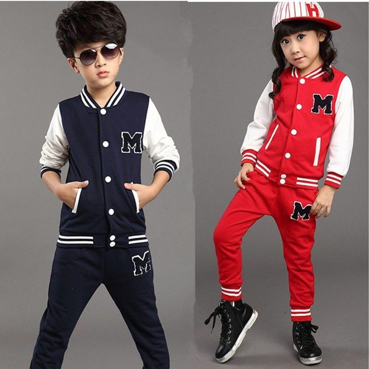 26b1b293135ce V-TREE Teenage children clothing set sports suit for boys girls ...