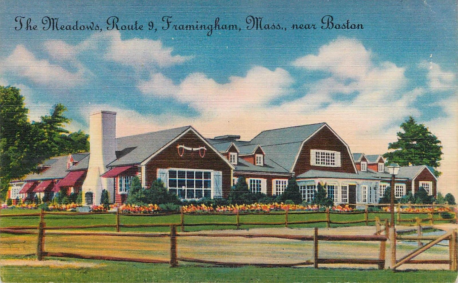 The Meadows Restaurant Route 9 Framingham Ma 1953