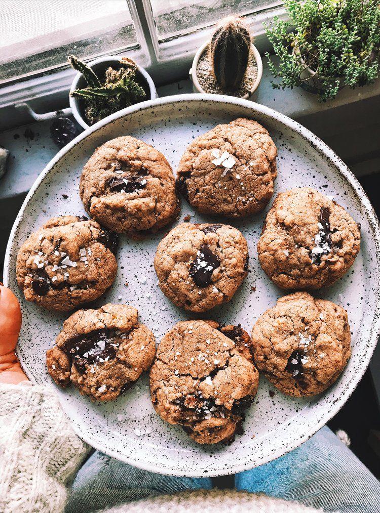 Chewy gooey chocolate chip cookies gf egg free gooey