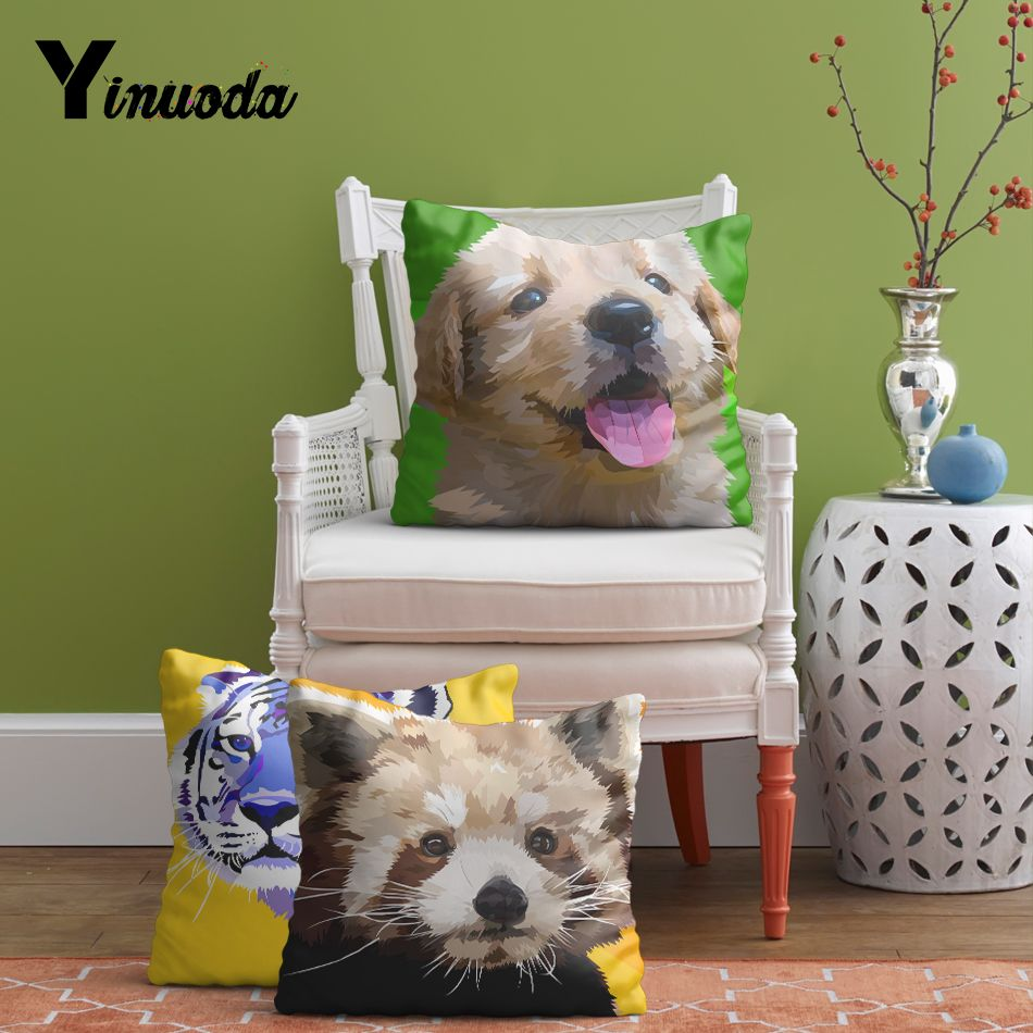 Yinuoda x inch birds red panda dogs tigers pillow sham cushion