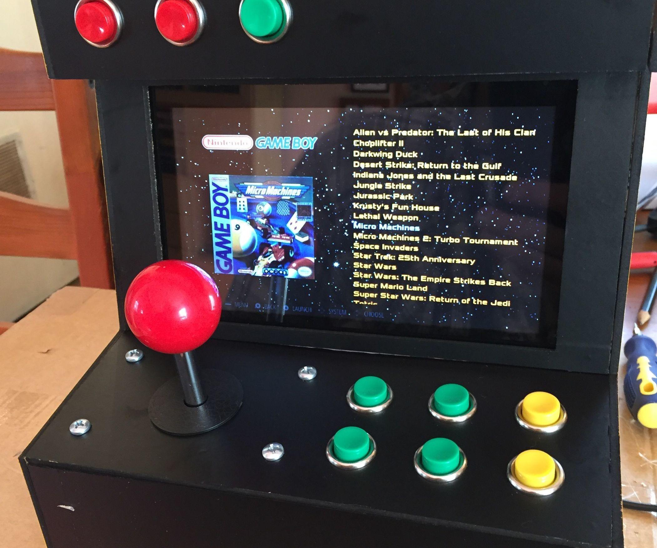 Raspberry Pi Game Cabinet Retropie Arcade Game Machine Arcade Games Pi Projects And