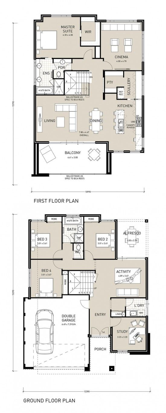 Reverse living home plans