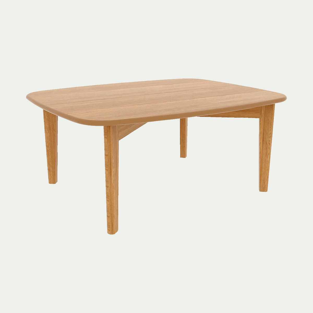 Table Basse Plaquee Chene Alinea Table Basse Table Basse