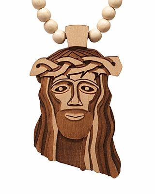 Goodwood Nyc Jesus Piece Wooden Necklace In The Future Beaded