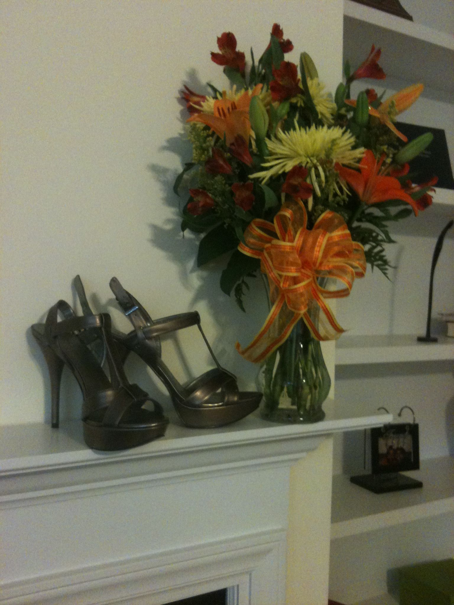 Beautiful flowers and hot shoes.  Now, that's a birthday!