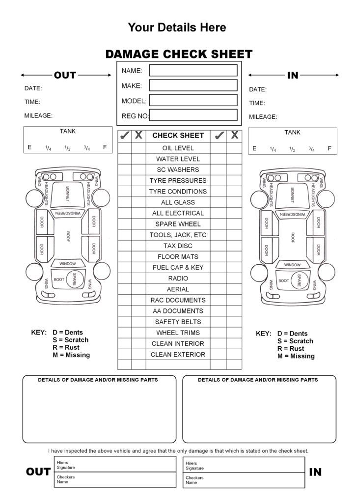 Vehicle Inspection Form Template from i.pinimg.com