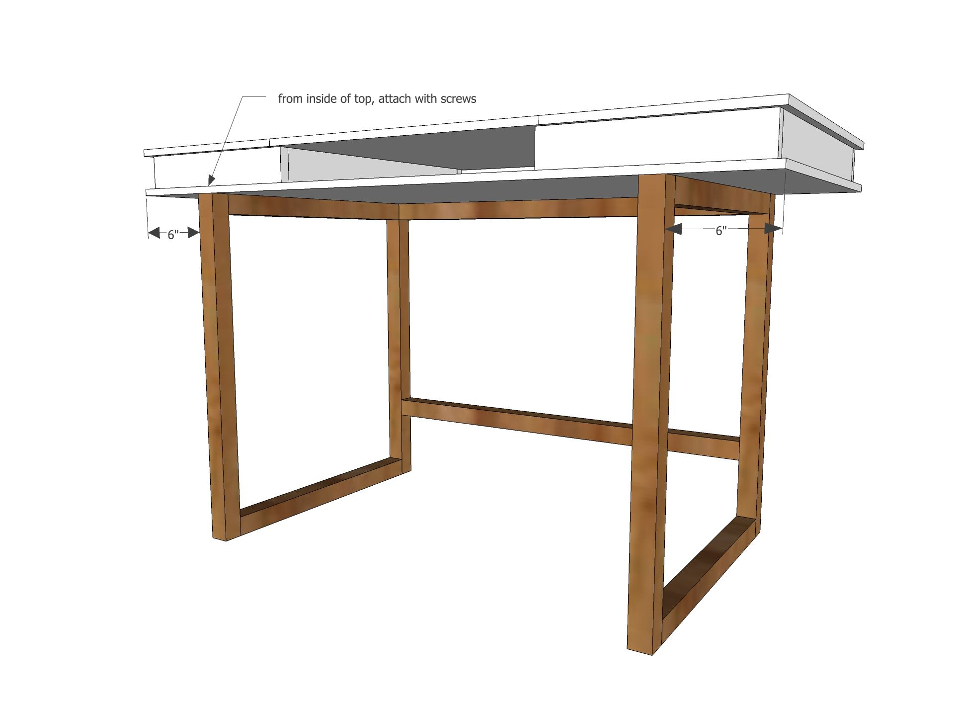 Ana white build a modern 2x2 desk base for build your for Desk building plans