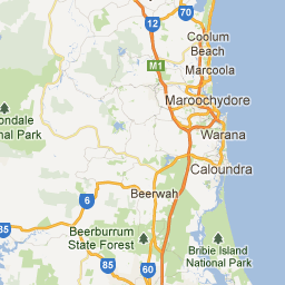 map of caloundra google maps
