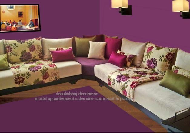 بالتة الألوان الأخضر الزيتي مع البنفسجي والفوشي والأوفوايت وجزء معرق بنفس الألوان Dream Living Rooms Moroccan Living Room Home N Decor