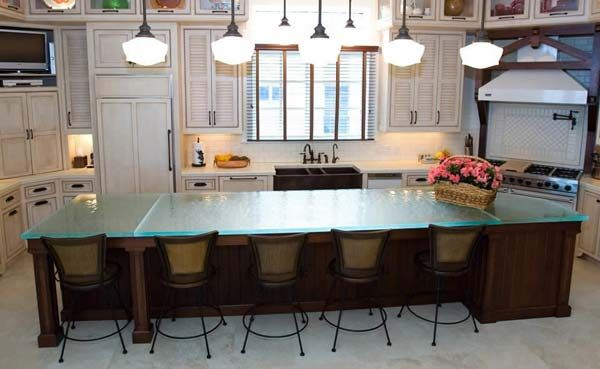 22 Modern and Stylish Glass Kitchen Countertop Ideas Countertop