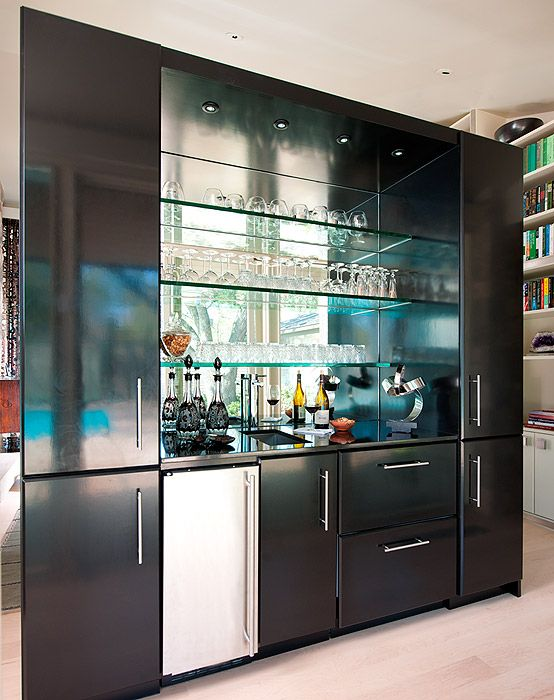 Hall Bar Floating Partition Cabinet & Storage Design ...