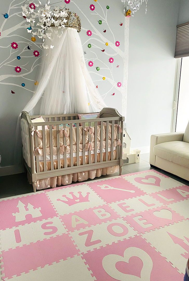 Easy Personalize Softtiles Princess Play Mat In Light