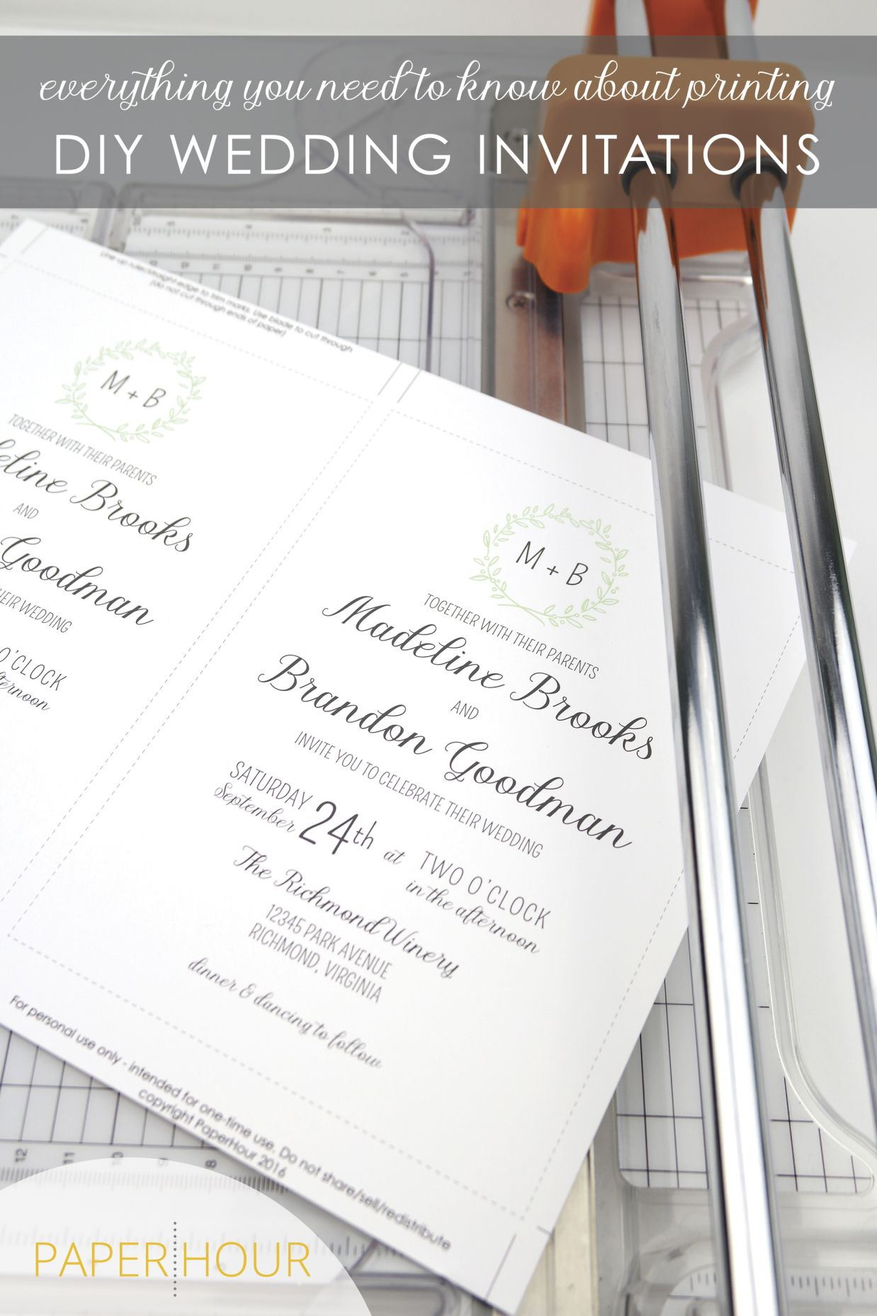 How to print DIY Wedding invitations. Everything you need to know ...