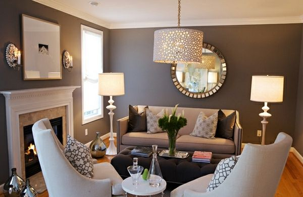 Beeindruckende Wohnzimmer Dekoration Leuchter Couch Lampe Tisch