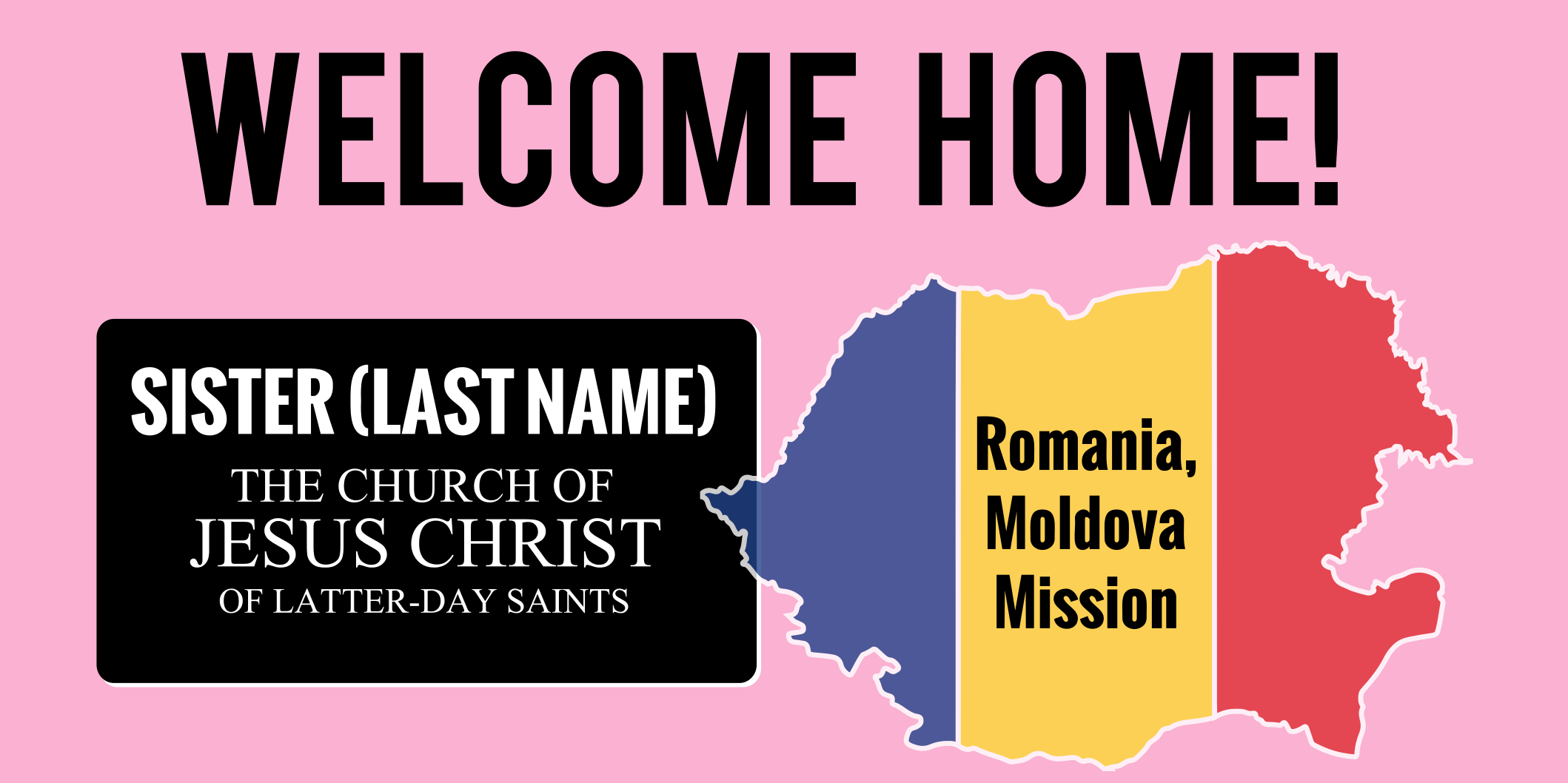 Lds Sister Missionary Banner Template Fully Customizable Free