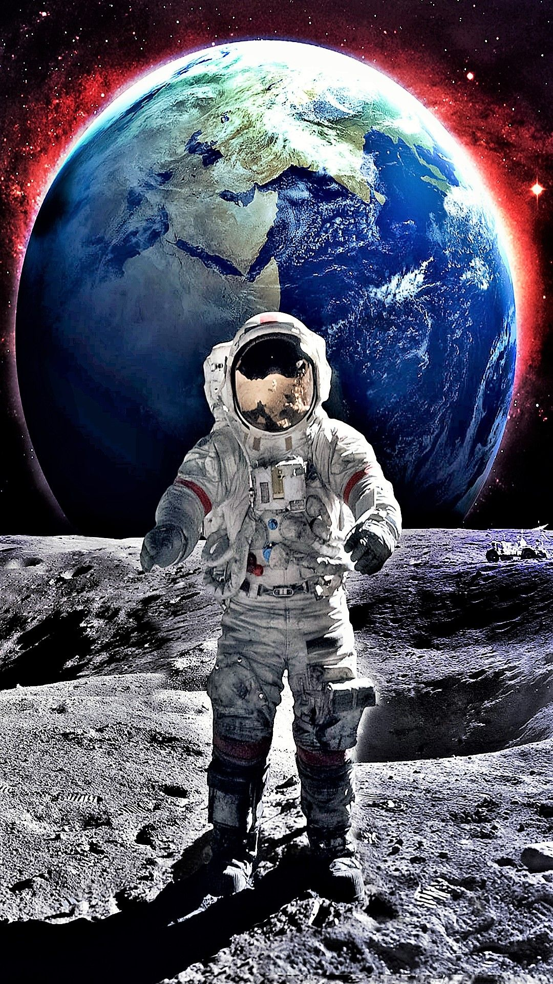 Moon Earth Astronaut Tap To See More Beautiful Galactical Space