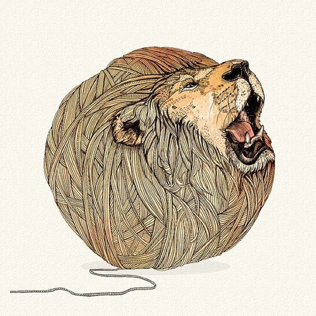 Ilustração de leão via Sandra Dieckmann