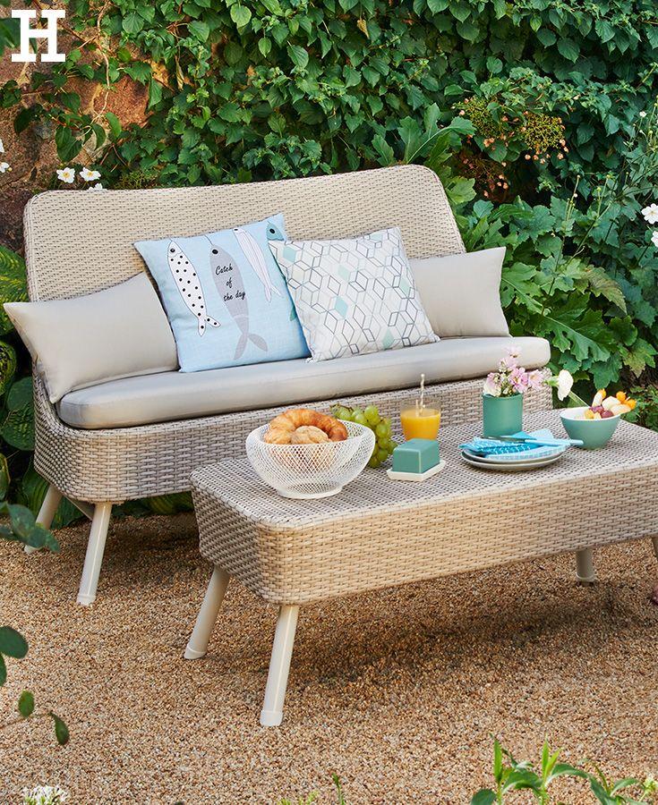 schicke loungegruppe für den garten oder den balkon. #terrasse, Gartenarbeit ideen