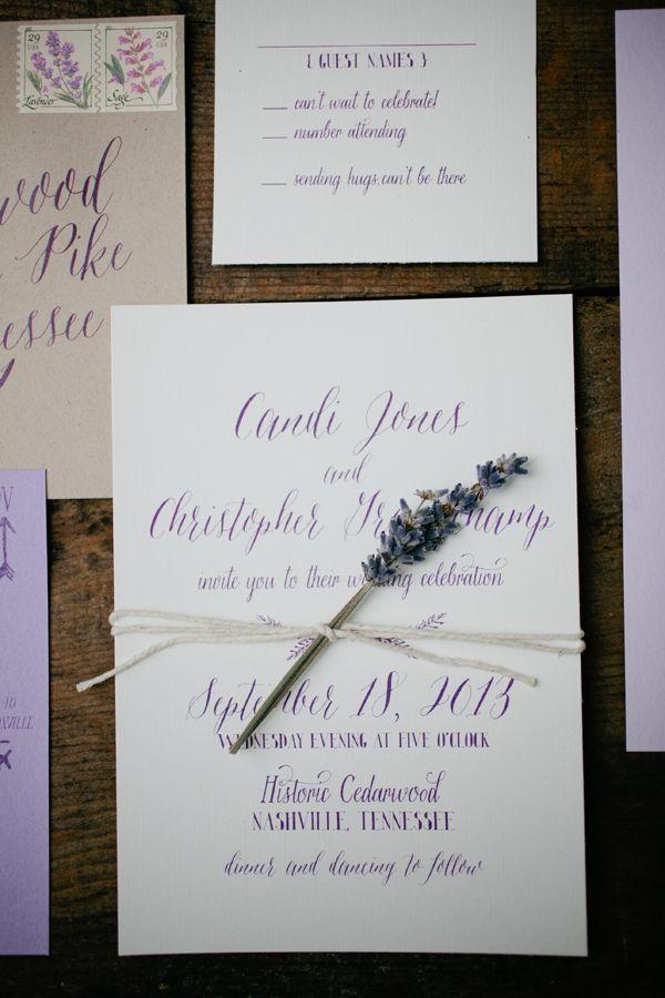 Partecipazioni Matrimonio Lavanda.Inviti Matrimonio Lavanda Lavender Wedding Invitations Lavender