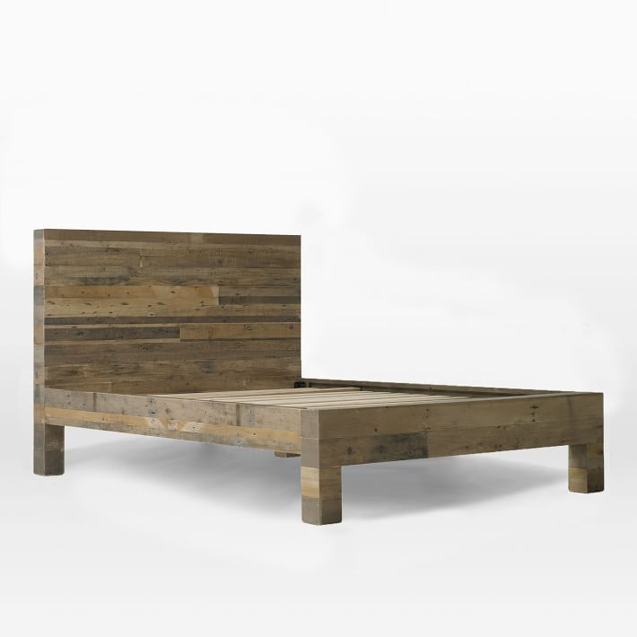 Emmerson 174 Reclaimed Wood Bed Natural Reclaimed Wood Beds