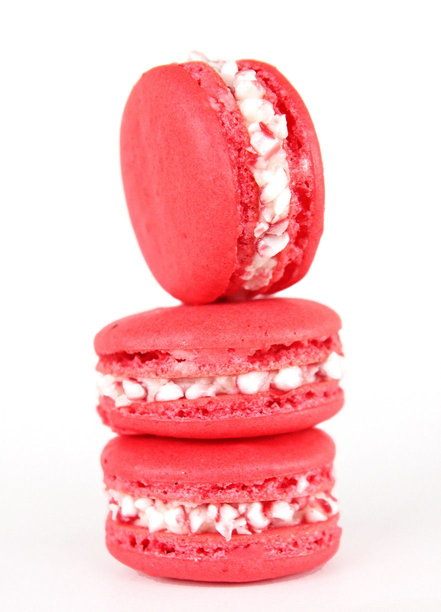 Candy Cane Macarons by Macarons By Jane | Macarons By Jane