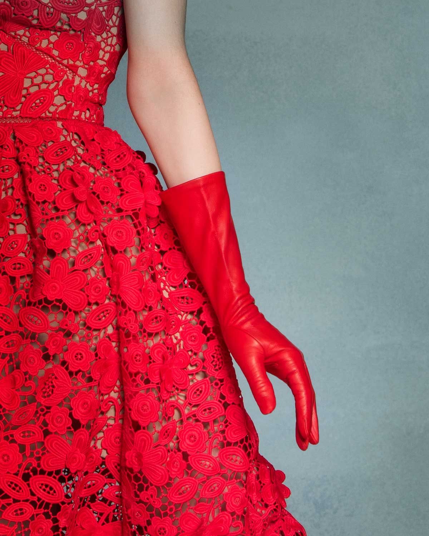 05359b4e4 Elegant 6-button length Italian leather gloves by Fratelli Orsini ...