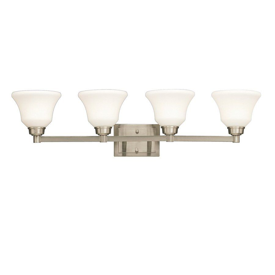 Kichler Langford 4 Light 8 5 In Brushed Nickel Bell Vanity