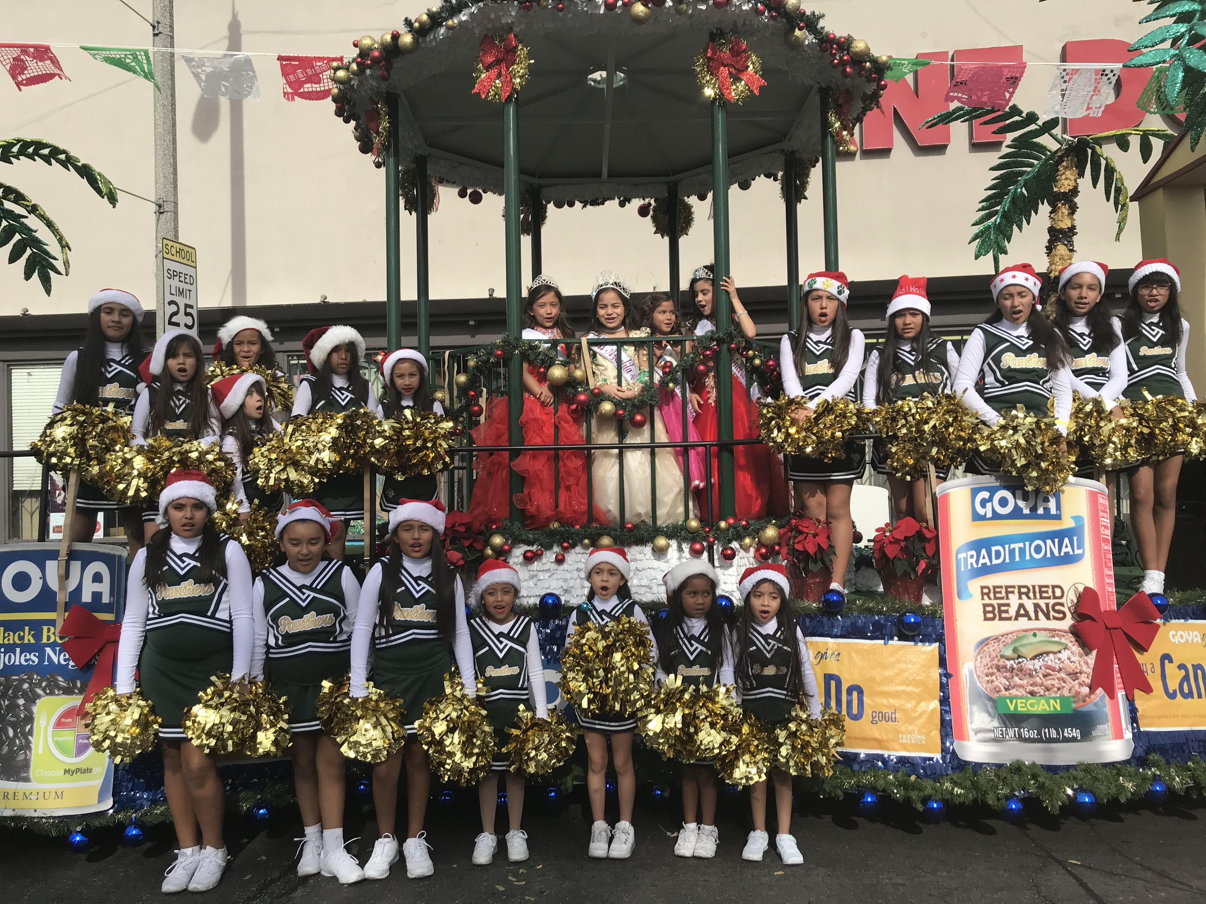 Bringing in the holidays with the Saybrook Panthers Cheer