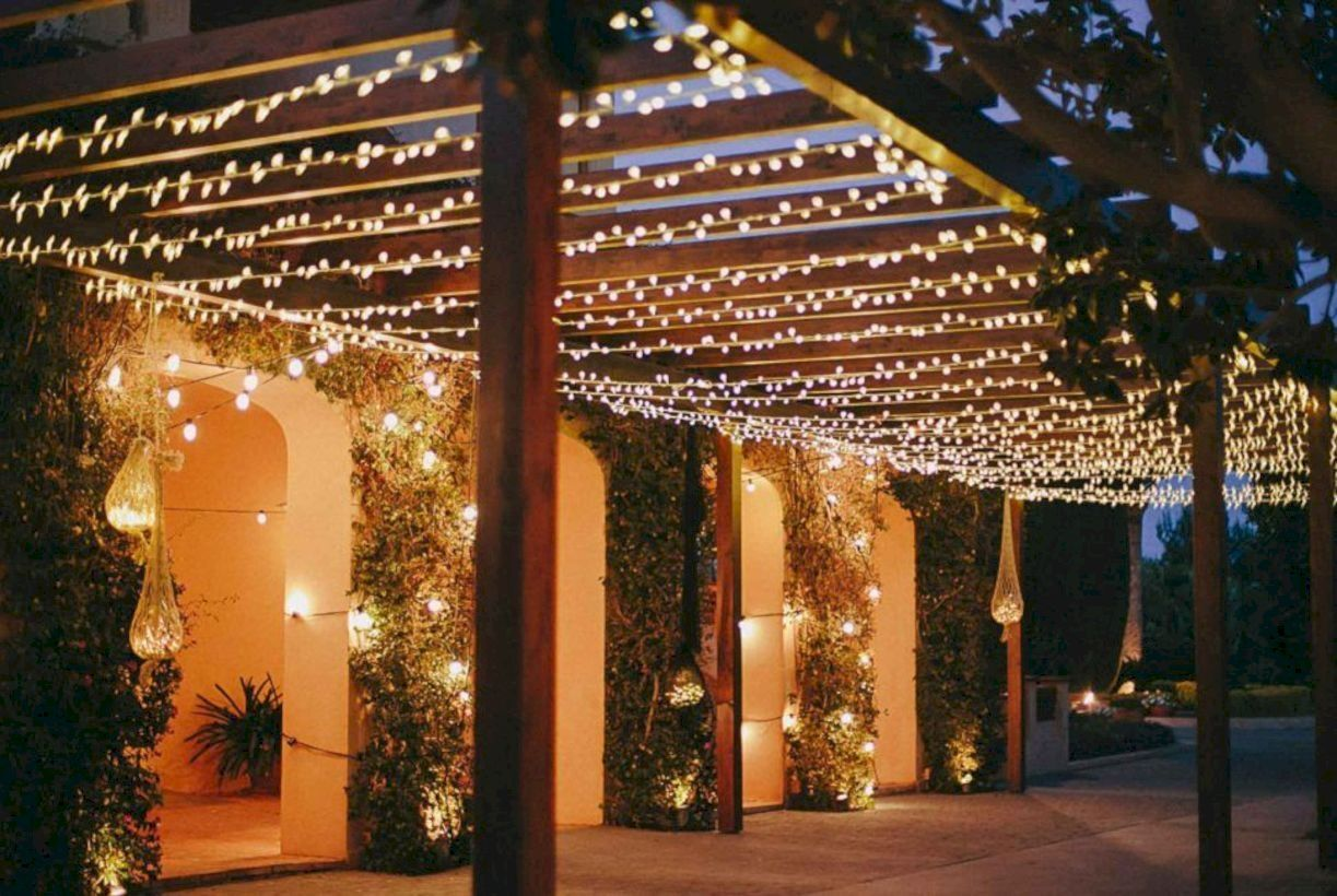 30 Creative Outdoor Lighting Designs For Backyard Gazebo