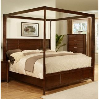 Wonderful Simply Solid Araceli Solid Wood Canopy Storage Bed (King Canopy Storage  Bed), Brown