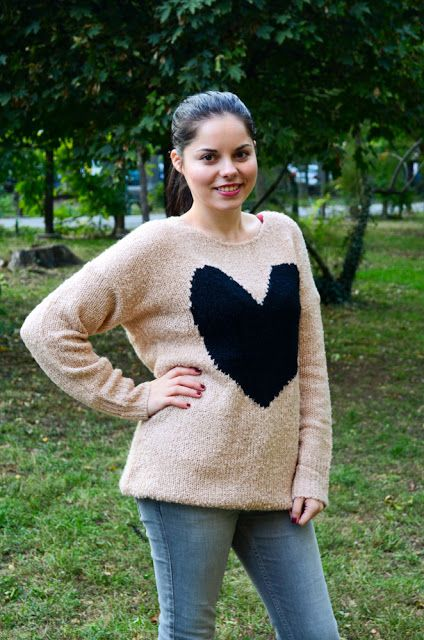 OOTD: I heart you HEART SWEATER