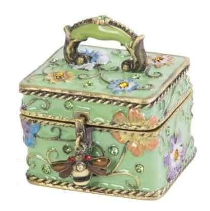 Insects & Bugs, Bee on a Purse Limoges Trinket Box