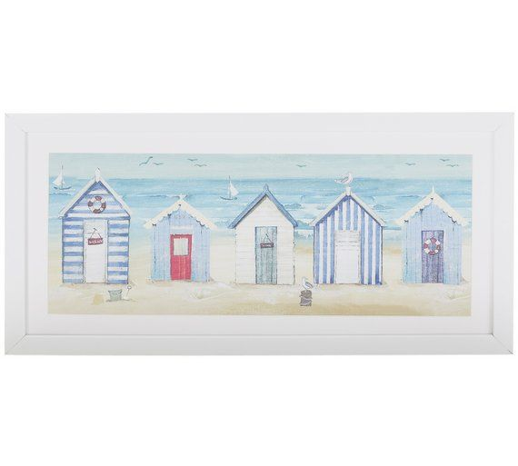 Buy Collection Beach Huts Framed Print at Argos.co.uk, visit Argos ...