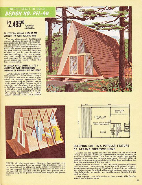 Page 11 A Frame House Building Plans House Tiny House Cabin