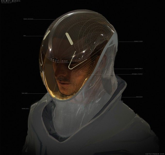Helmet Design, Concept Art, Sci Fi
