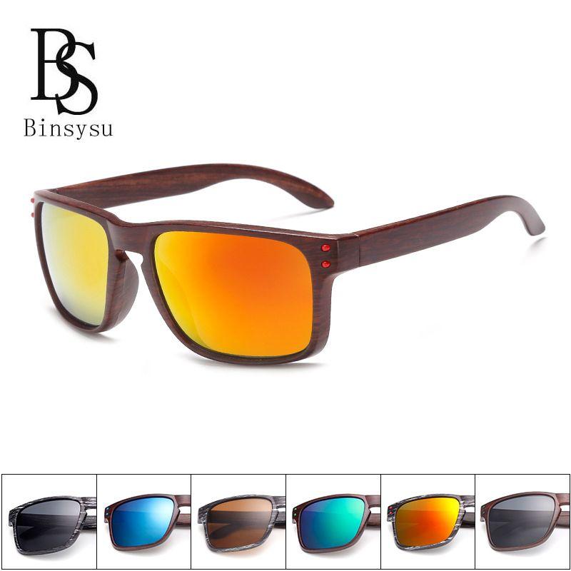 5fb6418e4f306 Women Brand Designer Men s Wood Grain Sunglasses Men Sports Mirror Square  Good Quality Sun Glasses for Women Rivet Eyewear  Affiliate