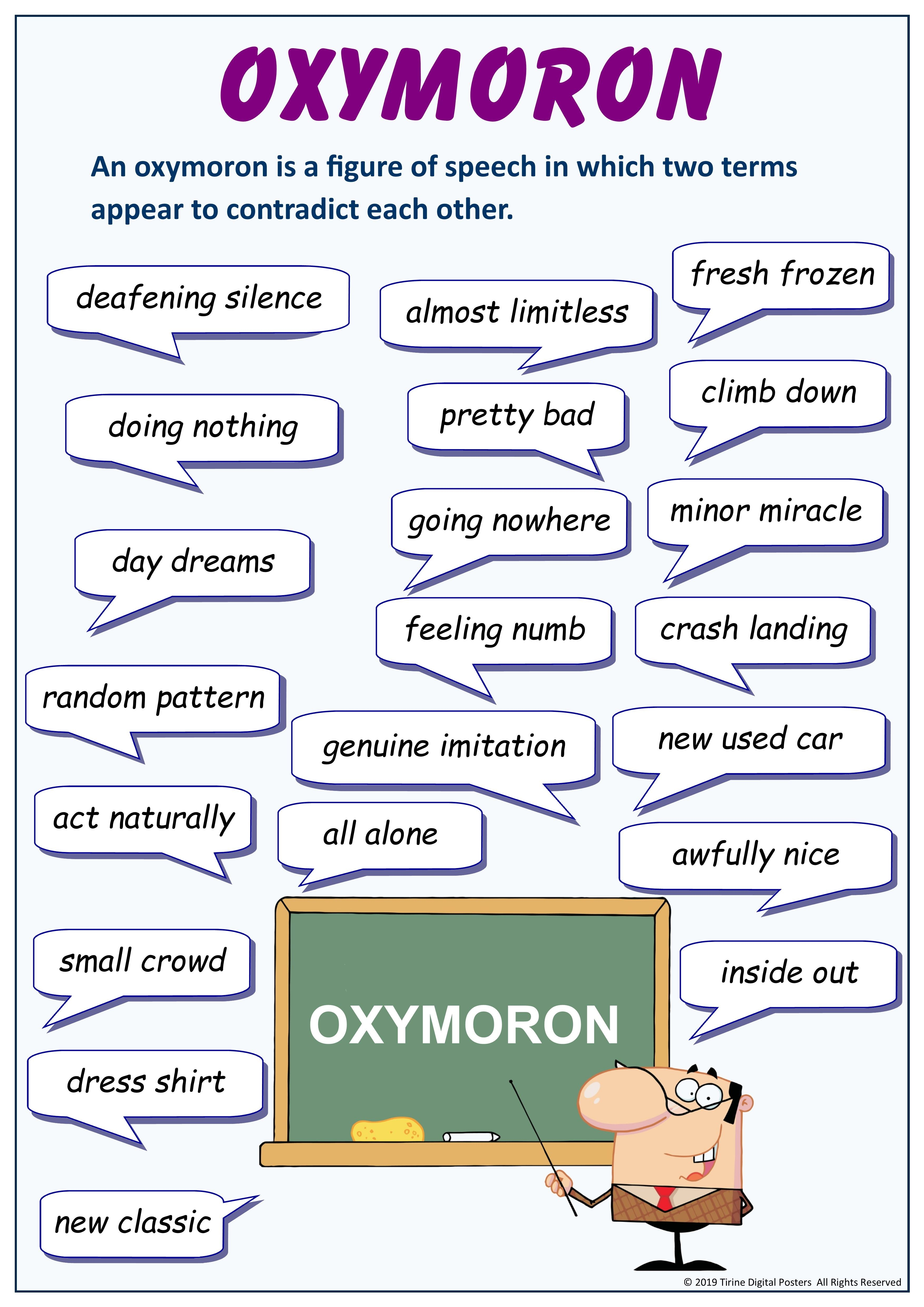 Oxymoron English Writing Skill Learn Word Lessons Dissertation Sur Le Silence