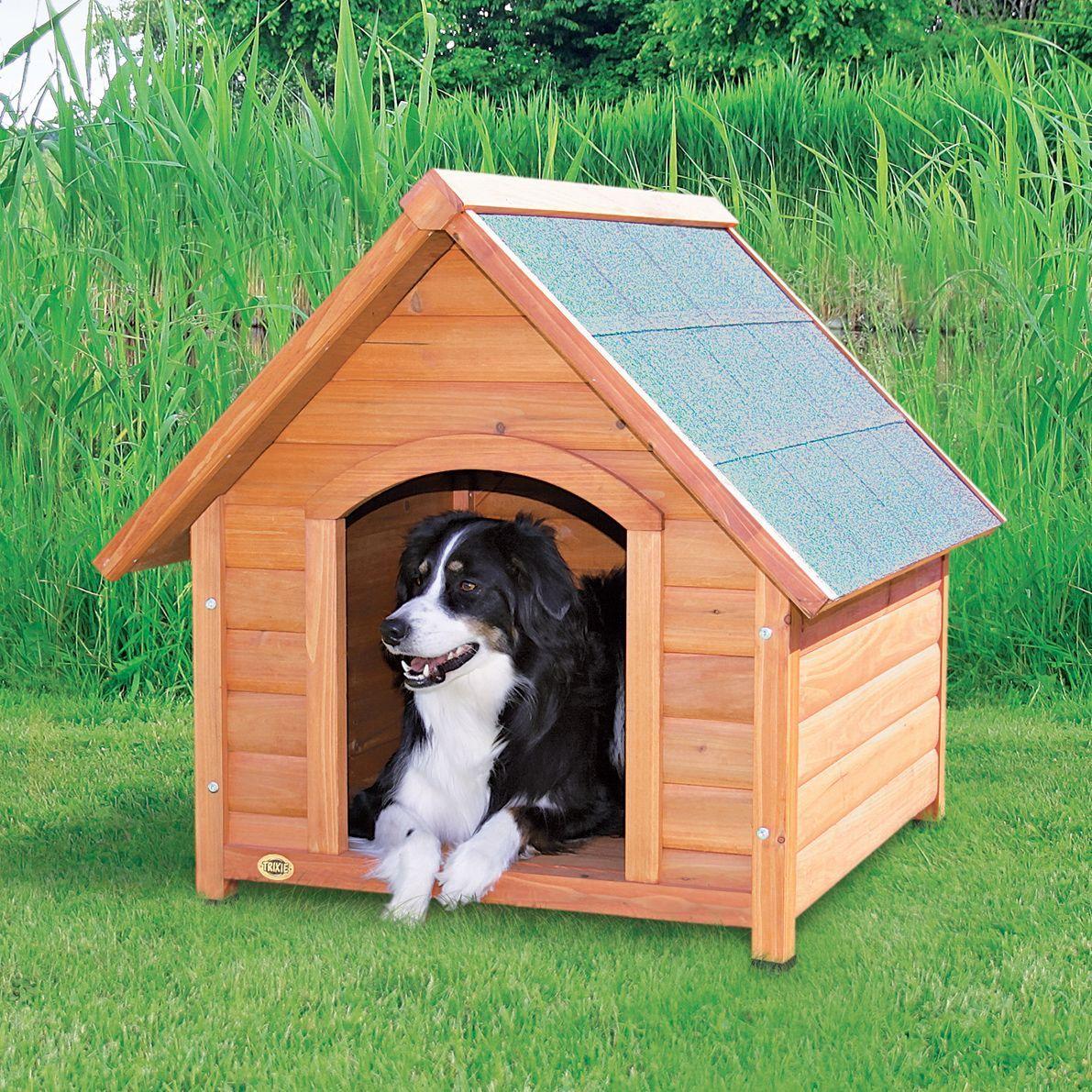 Trixie Medium Log Cabin Dog House Medium Glazed Pine Pitched