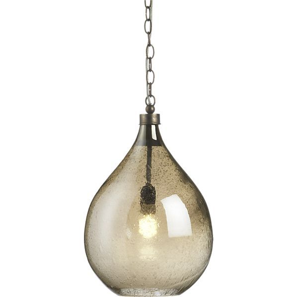 This lamp needs a home in my future study/library. (Glint Pendant Lamp in Chandeliers, Pendants | Crate and Barrel)