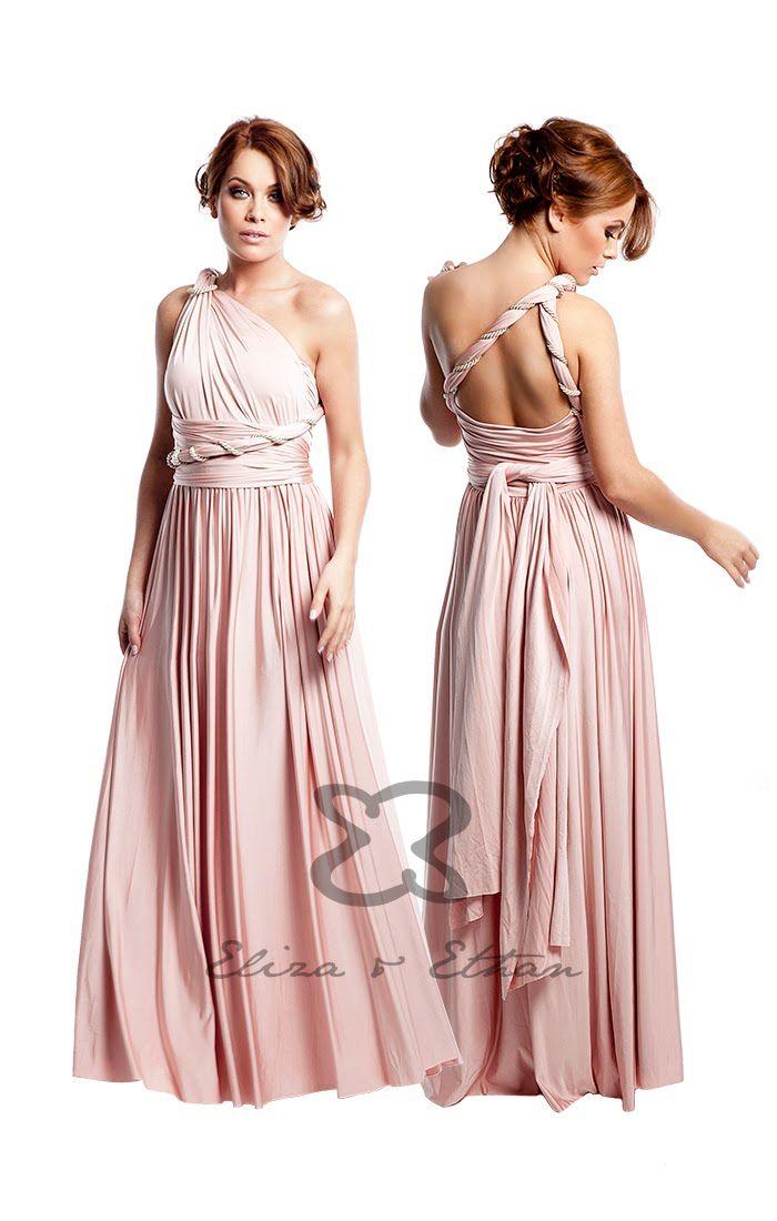 Eliza & Ethan Multi-Wrap Dress Tutorial - Style 8 | Nunta | Pinterest