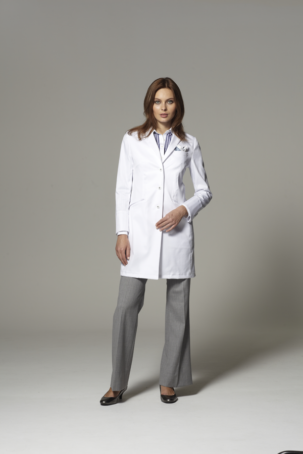 Women's Tailored Lab Coat - Technically, your doctor's coat may be a uniform. But it doesn't have to look like one. Our Women's Tailored Lab Coat was designed by a master tailor to strike a perfect balance between scientific and stylish.