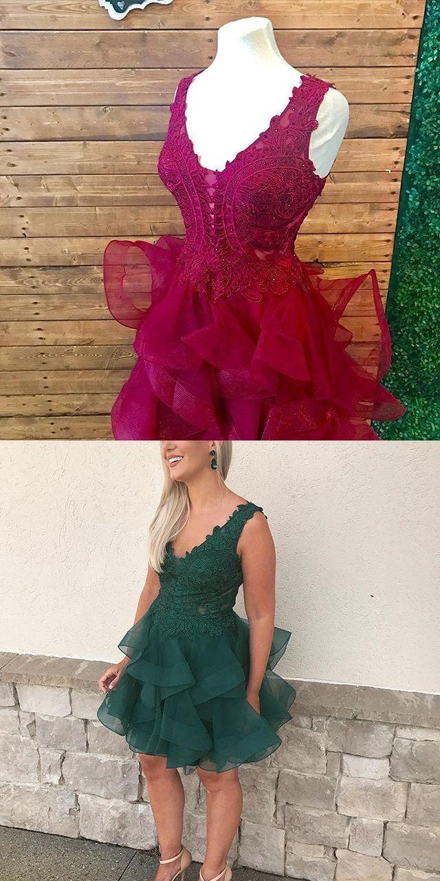 Adorable aline v neck short homecoming dress dresses pinterest