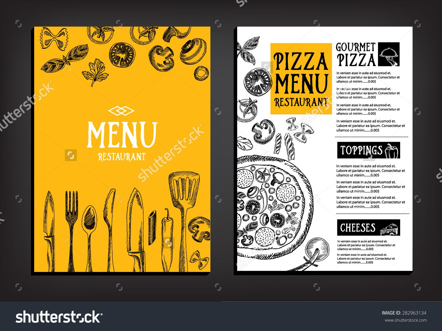 Cafe Menu Restaurant Brochure Food Design Template  Ideas Menu