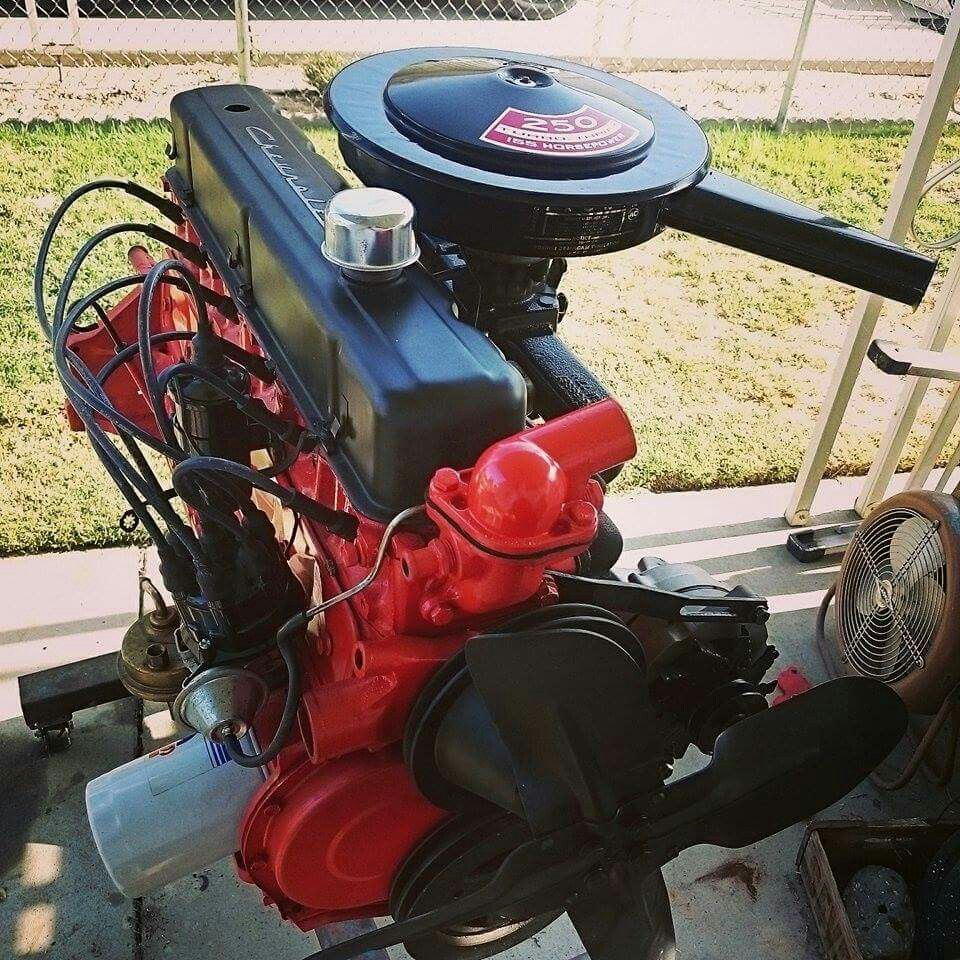 my chevy 250 i went through and painted actually got the engine out